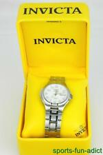NIB INVICTA Automatic Mechanical White Face Day Date SS Wristwatch 9866 w/ Box