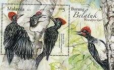 Woodpecker Malaysia 2013 Bird Nature Wildlife Forest (ms) MNH *emboss *unusual
