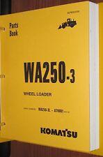 PARTS MANUAL FOR WA250-3L SERIAL A70000 KOMATSU WHEEL LOADER