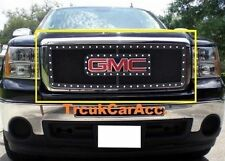For 2007~2013 GMC Sierra 1500 Black Wire Mesh Rivet Stud Grille Grill Insert