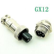 Aviation Plug GX12-6 6pin 12mm Male & Female panel Metal Connector