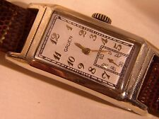 Men's 1940's  Cal. 500 15J Gruen  Runs Well Classic Long Case Gruen