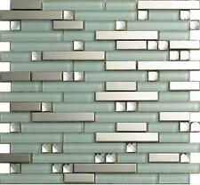 metal glass mosaic tile kitchen backsplash bathroom shower background home decro