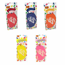 5 Assorted Card Jelly Belly Air Fresheners Cherry Bubblegum Lemon Blueberry Tang
