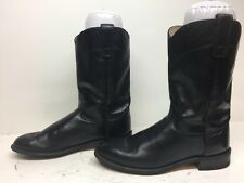 WOMENS ROY COOPER COWBOY LEATHER BLACK BOOTS SIZE 7.5 M