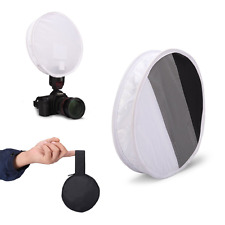 DSLR Flash Disc Portable Speedlight Softbox + Grey/White/Black Cardboard Fomito