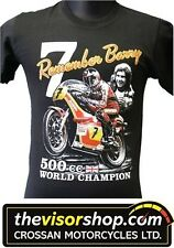 "Remembering ""Barry Sheene No.7"" 500cc World Champion T-SHIRT - Black - M Medium"