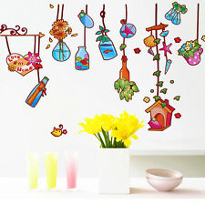 Wall Stickers Wall Decals Lovely Nature Drift Bottles Colorful