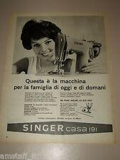 *25=SINGER MACCHINA PER CUCIRE=1958=PUBBLICITA'=ADVERTISING=PUBLICIDAD=WERBUNG=
