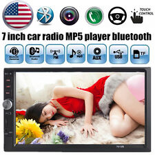 7'' Bluetooth Car Stereo Radio 2DIN USB/TF/AUX/Remote/EQ Touch Screen Head Unit