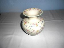 "Beautiful Weimar Hand Painted 6 1/2"" Porcelain Vase with Pink/Red Roses"