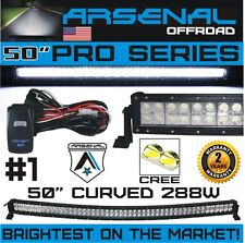 No.1 50 inch Pro Series Curved 288W CREE LED Light Bar 2017 Design by Arsenal TM