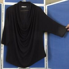 EUC Unique Neckline JENNIFER LOPEZ Black w.some Glitter TUNIC TOP 3X-4X Washable