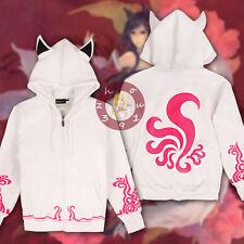 Anime League of Legends Ahri Hooded Sweatshirt Hoodie Jacket Slim Fit Coat#7-V19