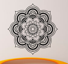 Mandala Wall Decal Vinyl Sticker Indian Om Lotus Flower Yoga Home Decor (14ma4l)