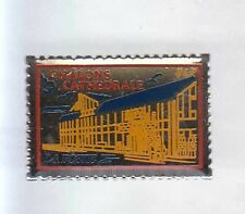 RARE PINS PIN'S .. PTT LA POSTE EGLISE CHALONS CATHEDRALE TIMBRE STAMP ~AP