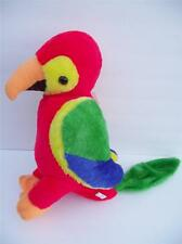 "Vtg 1981 Etone Plush Parrot 15"" Stuffed Animal red orange yellow green blue bird"