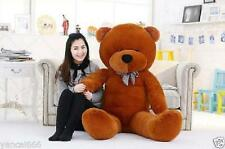 Giant 120CM big cute brown plush teddy bear (ONLY COVER) huge soft cotton toy