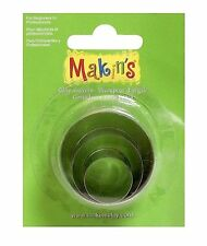 Makin's Clay Cutter Mold Set 3 Sizes Per Package ROUND M360-1 Circle  Cutters