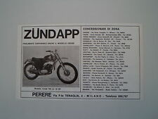 advertising Pubblicità 1972 MOTO ZUNDAPP CROSS 125