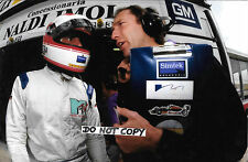 9x6 Photograph, Roland Ratzenberger  San Marino GP Portrait with Engineer 1994