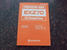 HITACHI EX270 COMPARISON GUIDE VS COMPETITORS MANUAL