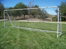 18x7 Steel Soccer Goal W/ Quality Net. New Portable, Tournament Approved, FIFA