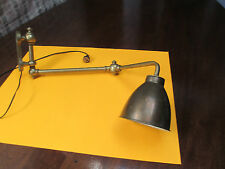 Industrial Machine Age Brass Wall Mount Articulated Lamp O C White Era STEAMPUNK