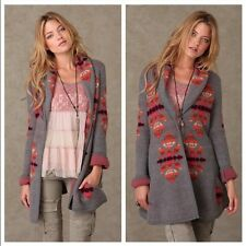 NWT FREE PEOPLE We the Free Anthropologie Navajo Wool Cardigan LARGE MSRP $198