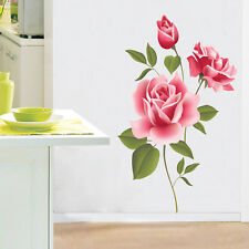 DIY Rose Flower Removable Wall Sticker For Bedroom Art Mural Vinyl  Home Decor