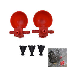 5Pcs Bird Coop Feed Automatic Poultry Drinking Cups Chicken Fowl Drinker VDF