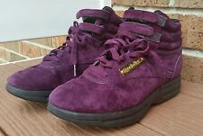 Reebok Classic Vintage High-Tops Ankle Purple Sneakers Tennis Shoes Size 7.5
