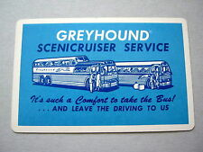 PLAYING CARDS VINTAGE GREYHOUND BUSES COACHES USA SCENICRUISER SERVICE 1940s