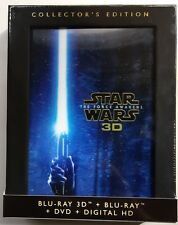 NEW STAR WARS EPISODE VII THE FORCE AWAKENS 3D BLU RAY DVD 4 DISC SET DIGIPACK