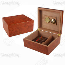 Camphor Wood Grain Cedar Wood Cigar Humidor With Humidifier Hygrometer Cohiba