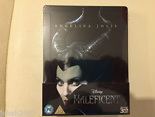 DISNEY MALEFICENT 3D STEELBOOK BLU RAY ZAVVI EXCLUSIVE **NEW & SEALED**