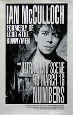 Echo And The Bunnymen Ian McCulloch 1990 Original Concert Poster Numbers Houston