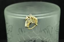 925 STERLING SILVER HORSE HEAD PENDANT CHARM #X19362