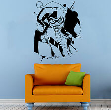 Harley Quinn Wall Vinyl Decal Cartoon DC Comics Hero Vinyl Sticker Decor (31b2j)