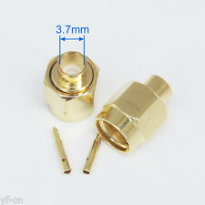 10x Gold SMA Male Plug Solder RF Straight Connectors for RG402 semi-rigid cable