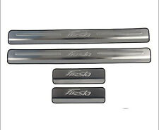 NEW 2009-2014 Ford Fiesta Chrome Door Sill Protectors Door Kick Plates Steel 4PC