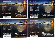 2007 Sydney Harbour Bridge 75th Years $1 Coin - Four Mintmarks