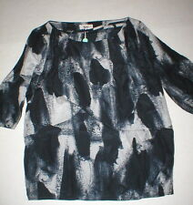 NWT New Womens Designer Acne Blouse Top 36 IT 6 Silk Black Gray Begonia