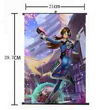 HOT Japan Anime Blizzard Game Overwatch D.Va Cute Home Decor Poster Wall Scroll