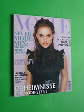 VOGUE DEUTSCH August 1999 Natalie Portman Wayne Maser Isabella Rossellini