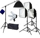 Pro 4 lights with hair light Photo Studio Video continuous softbox lighting kit