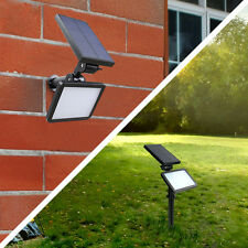 LED Solar Spot Light Flood Lamp Outdoor Garden Spotlights 48LED Night Sensor