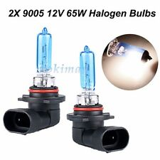 2x 9005 HB3 5500K White Halogen Fog Light Bulbs 65W DC 12V Coated Blue Lamp Bulb