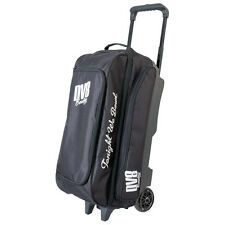 DV8 Freestyle Triple Roller 3 Ball Bowling Bag Black