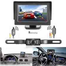 """4.3"""" TFT LCD Monitor+Car Wireless Rear View Back Up Camera Kit LED Night Vision"""
